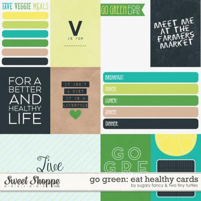 Go Green: Eat Healthy Cards by Sugary Fancy & Two Tiny Turtles