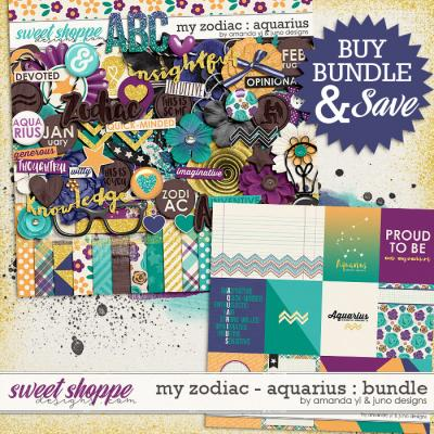 My Zodiac - Aquarius : Bundle by Amanda Yi & Juno Designs