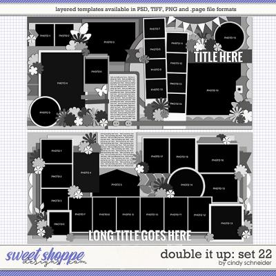 Cindy's Layered Templates - Double It Up Set 22 by Cindy Schneider
