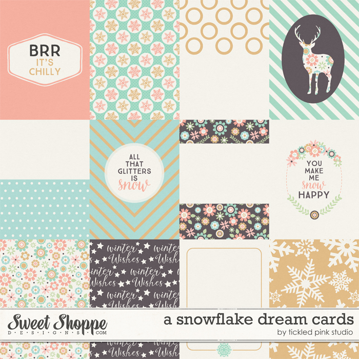 A Snowflake Dream Cards by Tickled Pink Studio