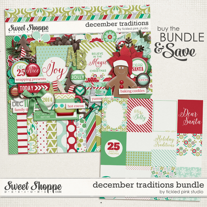 December Traditions Bundle by Tickled Pink Studio
