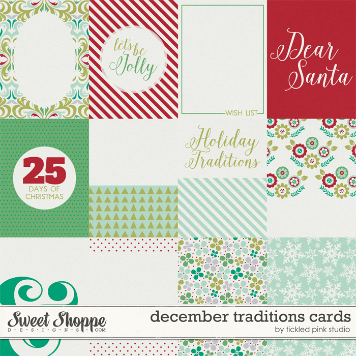 December Traditions Cards by Tickled Pink Studio