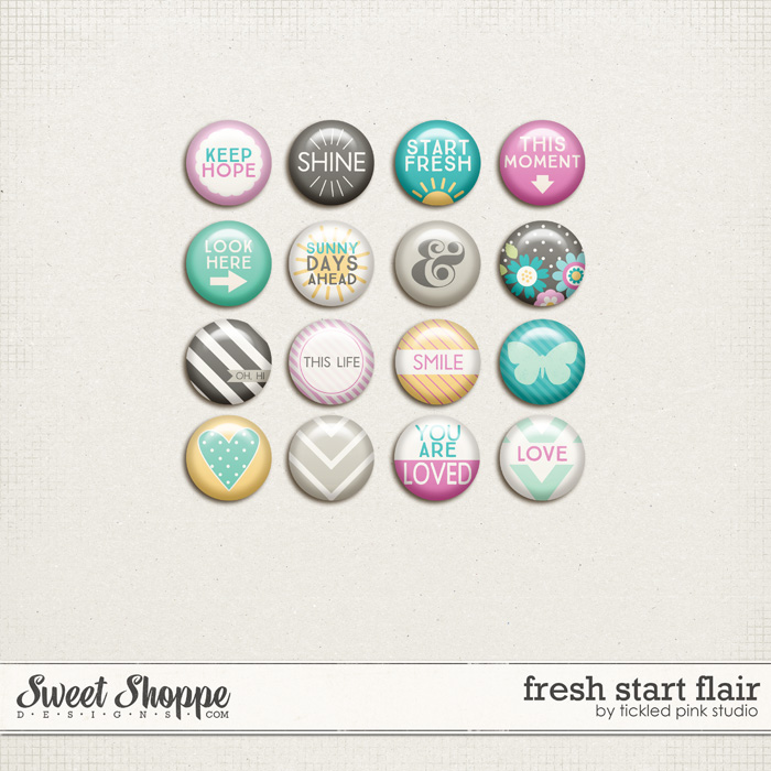 Fresh Start Flair by Tickled Pink Studio