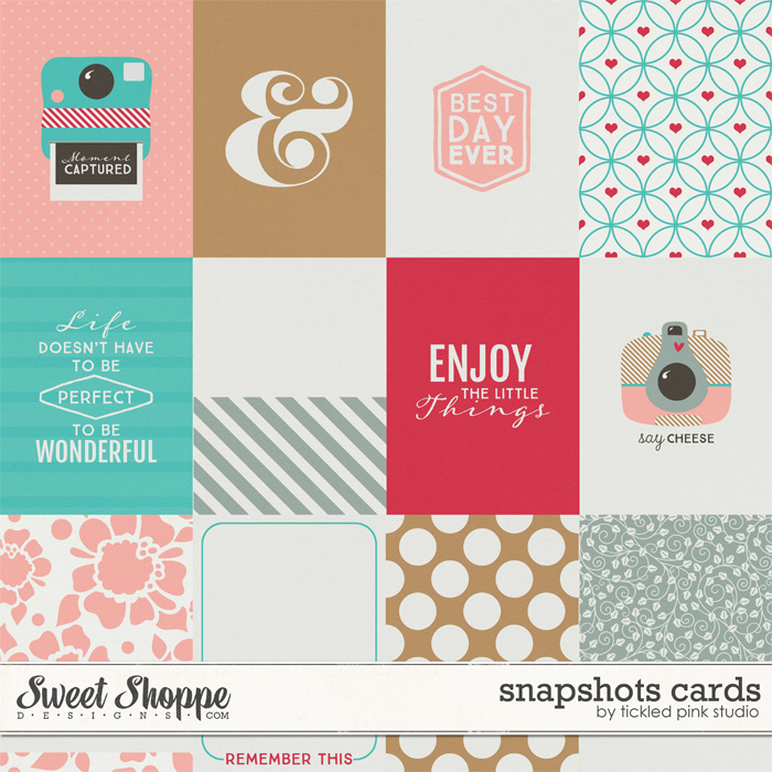 Snapshots Cards by Tickled Pink Studio