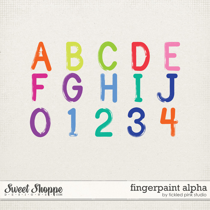 Fingerpaint Alpha by Tickled Pink Studio