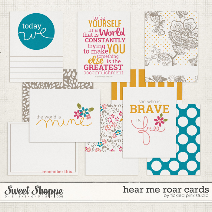 Hear Me Roar Cards by Tickled Pink Studio