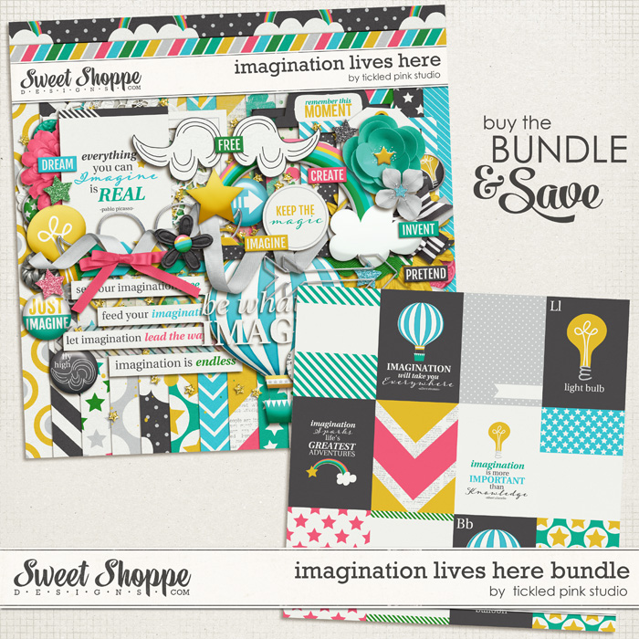 Imagination Lives Here Bundle by Tickled Pink Studio