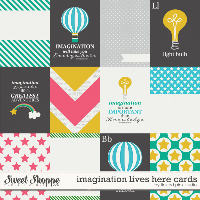 Imagination Lives Here Cards by Tickled Pink Studio