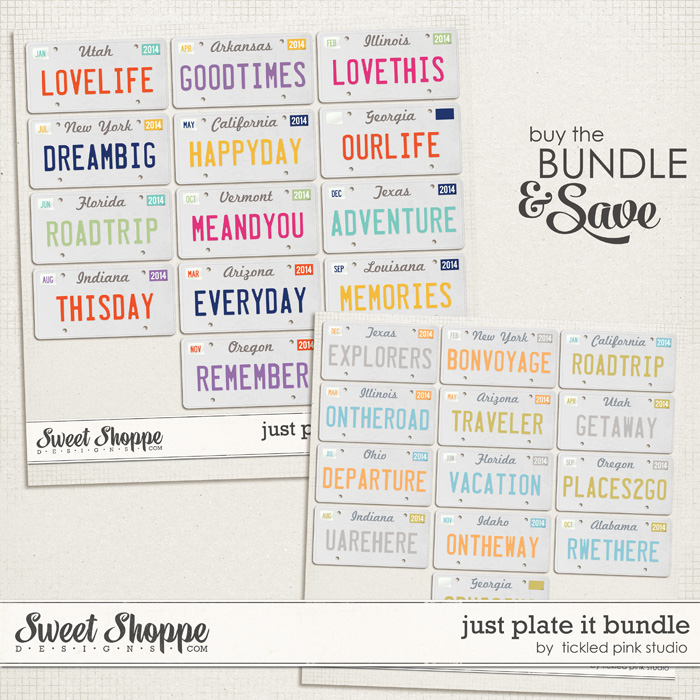 Just Plate It Bundle by Tickled Pink Studio