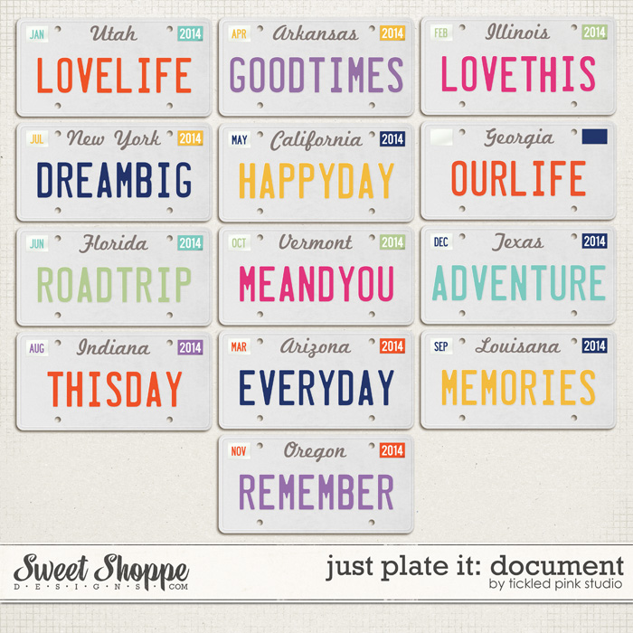 Just Plate It: Document by Tickled Pink Studio