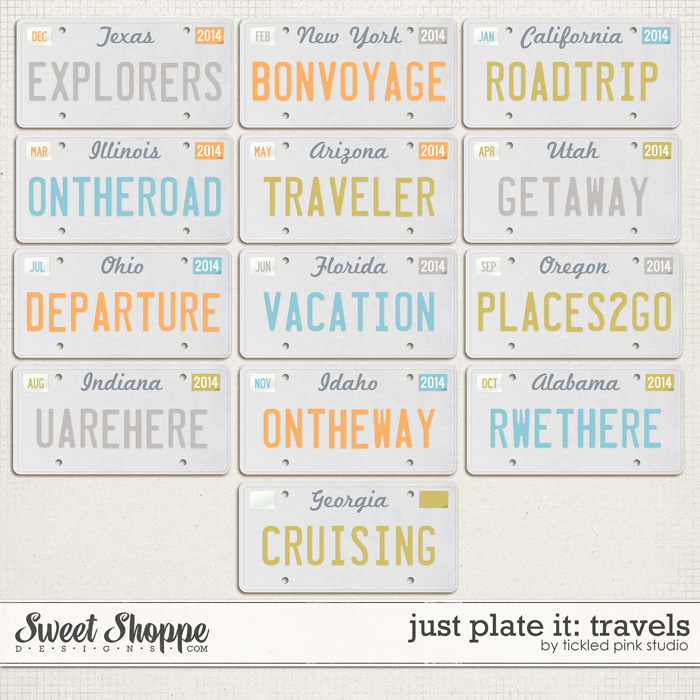 Just Plate It: Travels by Tickled Pink Studio