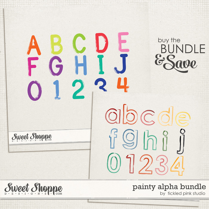 Painty Alpha Bundle by Tickled Pink Studio