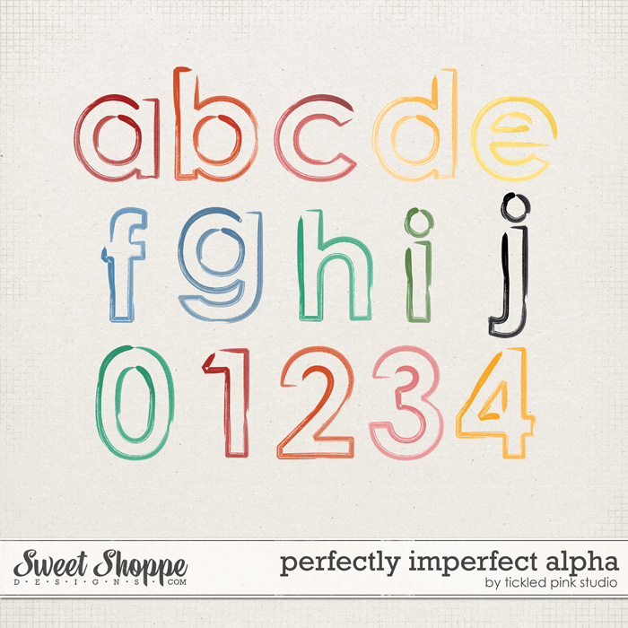 Perfectly Imperfect Alpha by Tickled pink Studio