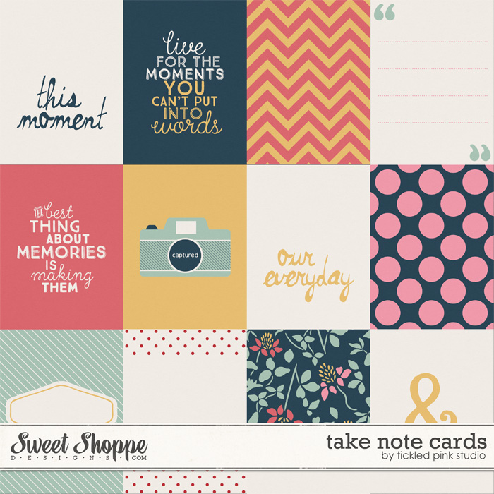 Take Note Cards by Tickled Pink Studio