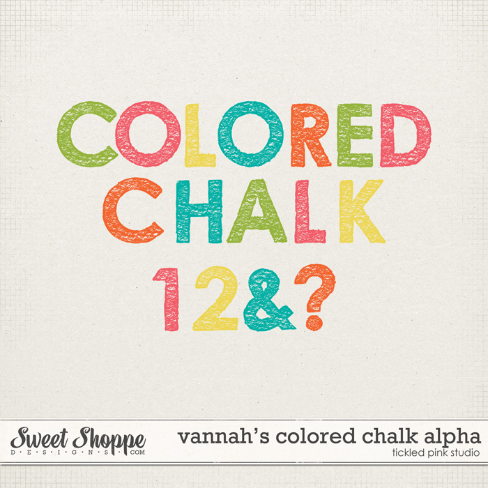 Vannah's Colored Chalk Alpha by Tickled Pink Studio