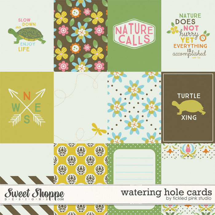 Watering Hole Cards by Tickled Pink Studio