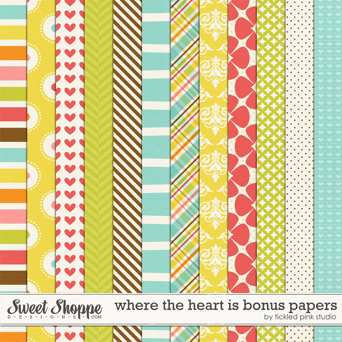 Where The Heart Is Bonus Papers by Tickled Pink Studio