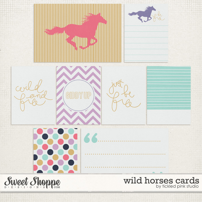 Wild Horses Cards by Tickled Pink Studio