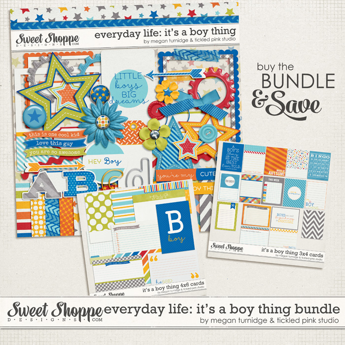 Everyday Life: It's A Boy Thing Bundle by Megan Turnidge & Tickled Pink Studio