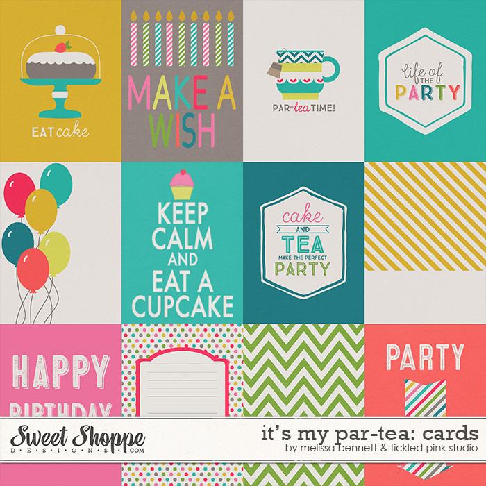 It's My Par-tea: Cards by Melissa Bennett & Tickled Pink Studio