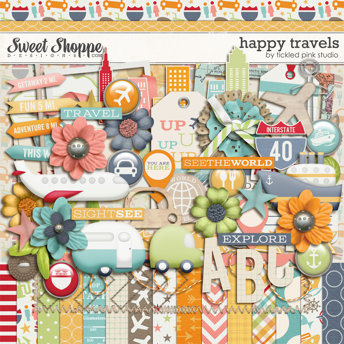 Happy Travels by Tickled Pink Studio