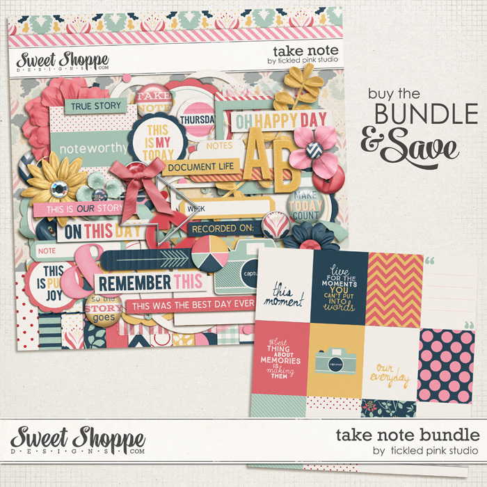 Take Note Bundle by Tickled Pink Studio