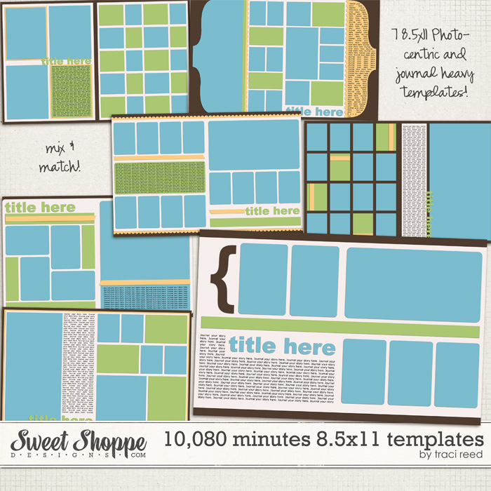 10,080 Minutes 11x17 Template Album by Traci Reed