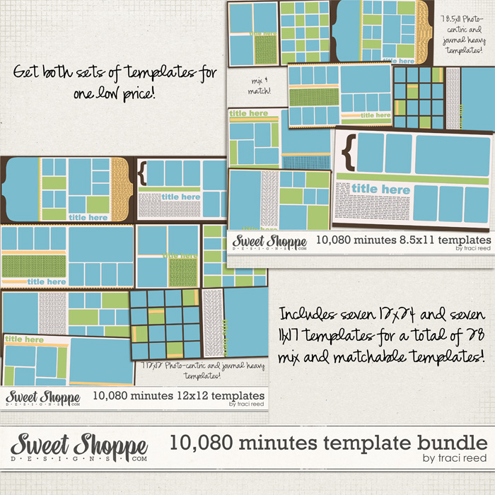 10,080 Minutes Template Bundle by Traci Reed