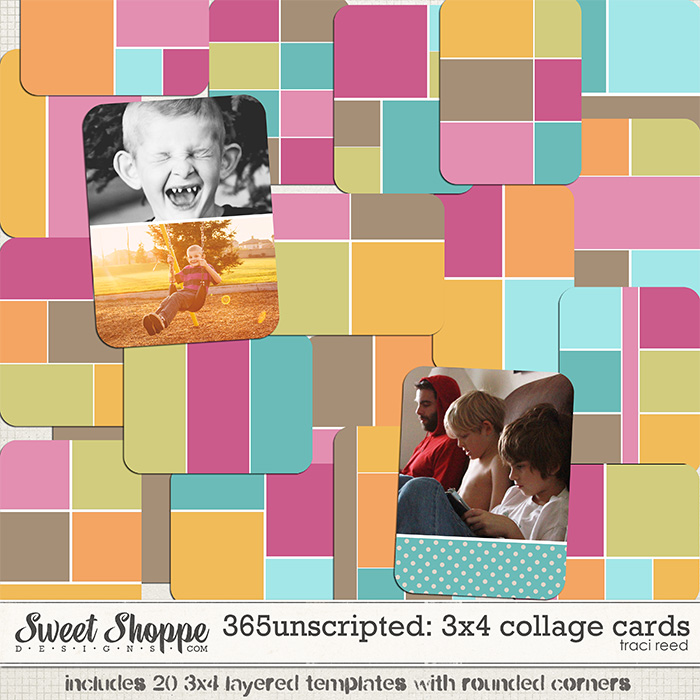 365Unscripted: 3x4 Collage Cards by Traci Reed