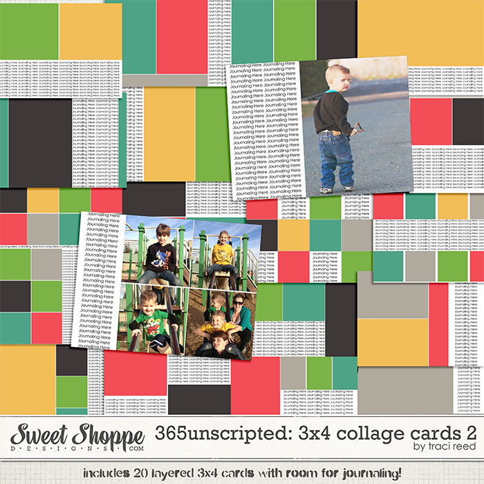 365Unscripted: 3x4 Collage Cards 2 by Traci Reed