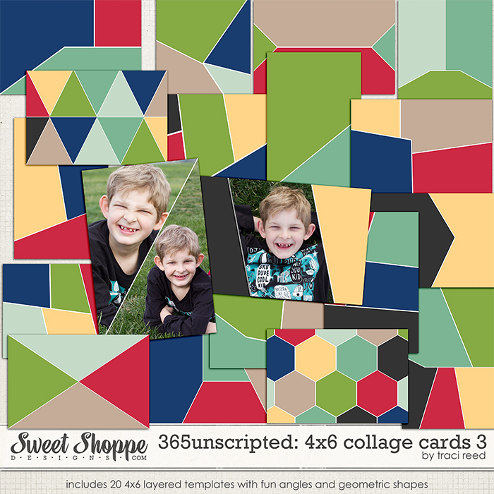 365Unscripted: 4x6 Collage Cards 3 by Traci Reed