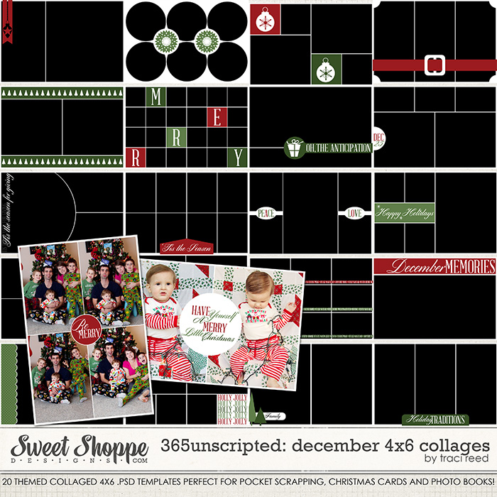 365Unscripted - December: 4x6 Collages by Traci Reed