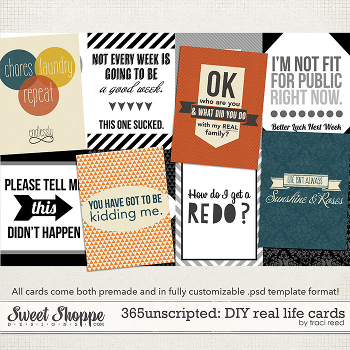 365Unscripted: DIY Real Life Cards by Traci Reed
