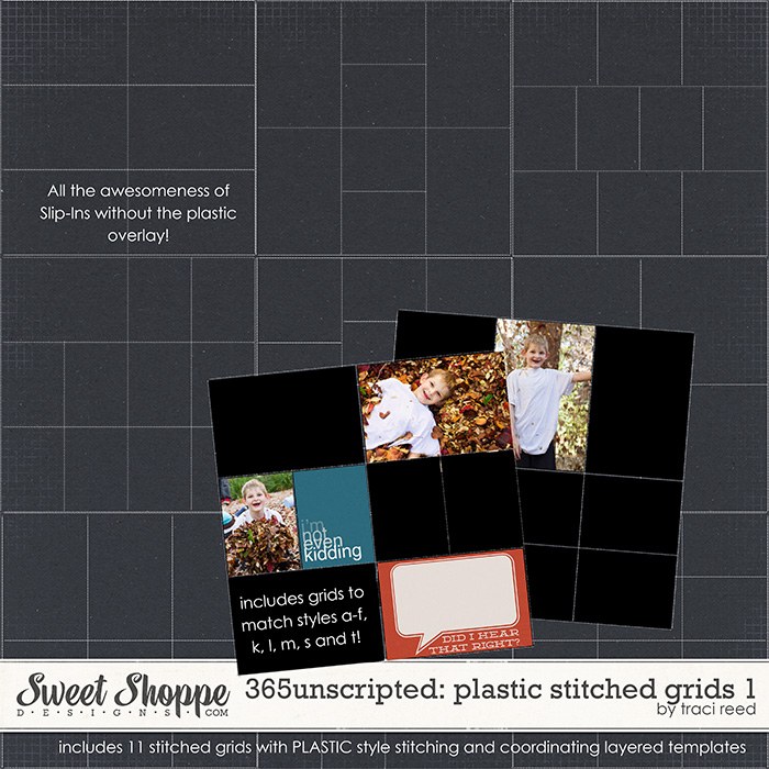 365Unscripted: Plastic Stitched Grids 1 by Traci Reed