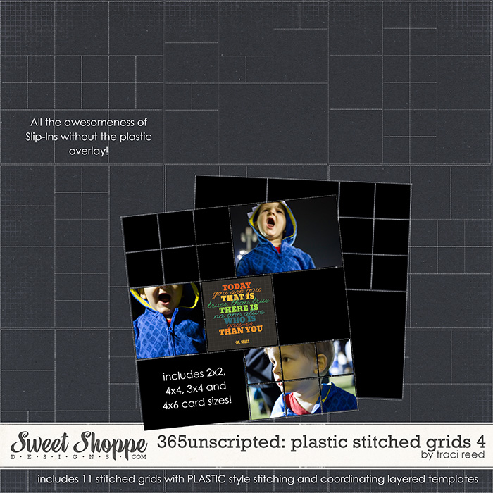 365Unscripted: Plastic Stitched Grids 4 by Traci Reed