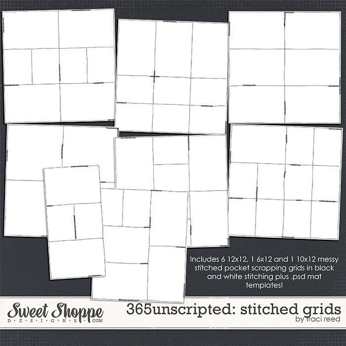 365Unscripted: Stitched Grids 1 by Traci Reed