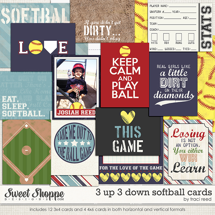 3 Up 3 Down Softball Cards by Traci Reed