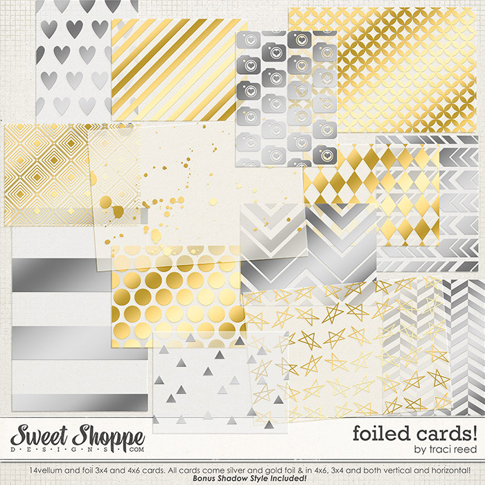 Foiled Cards by Traci Reed