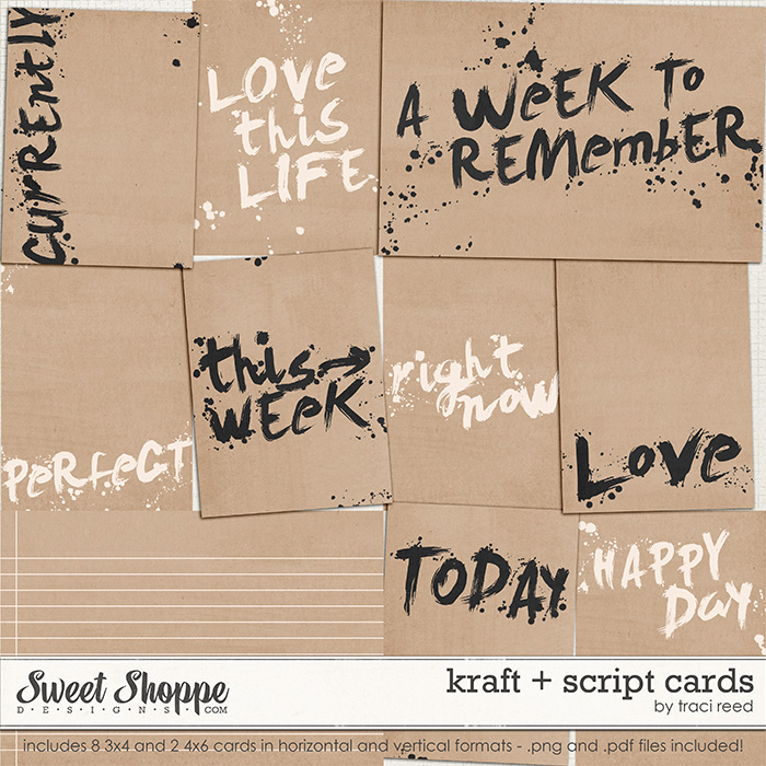 Kraft + Script Cards by Traci Reed