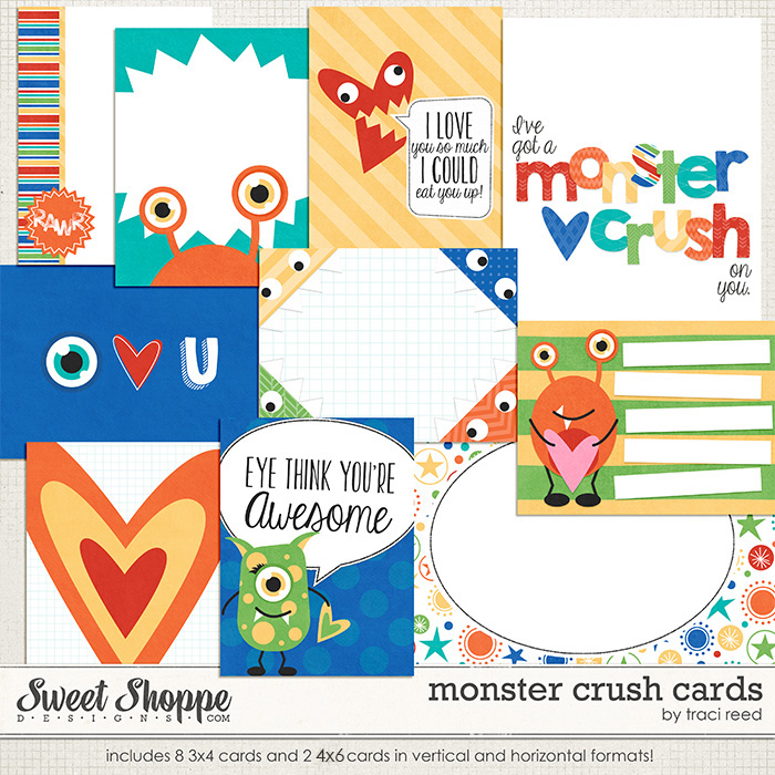 Monster Crush Cards by Traci Reed