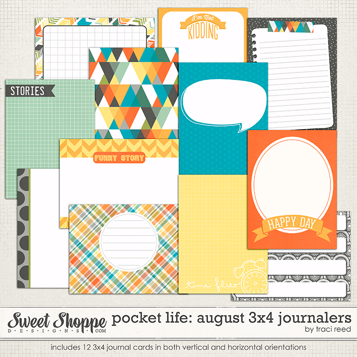 Pocket Life: August 3x4 Journalers by Traci Reed