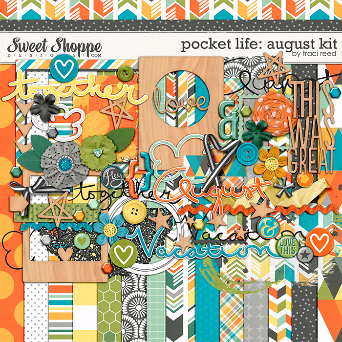Pocket Life: August Digital Kit by Traci Reed