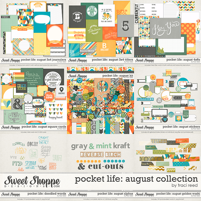 Pocket Life: August Collection by Traci Reed