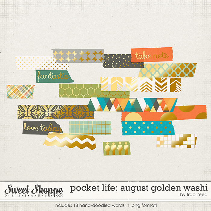 Pocket Life: August Golden Washi by Traci Reed
