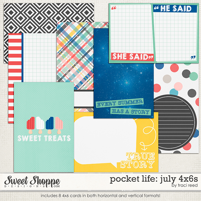 Pocket Life: July 4x6s by Traci Reed