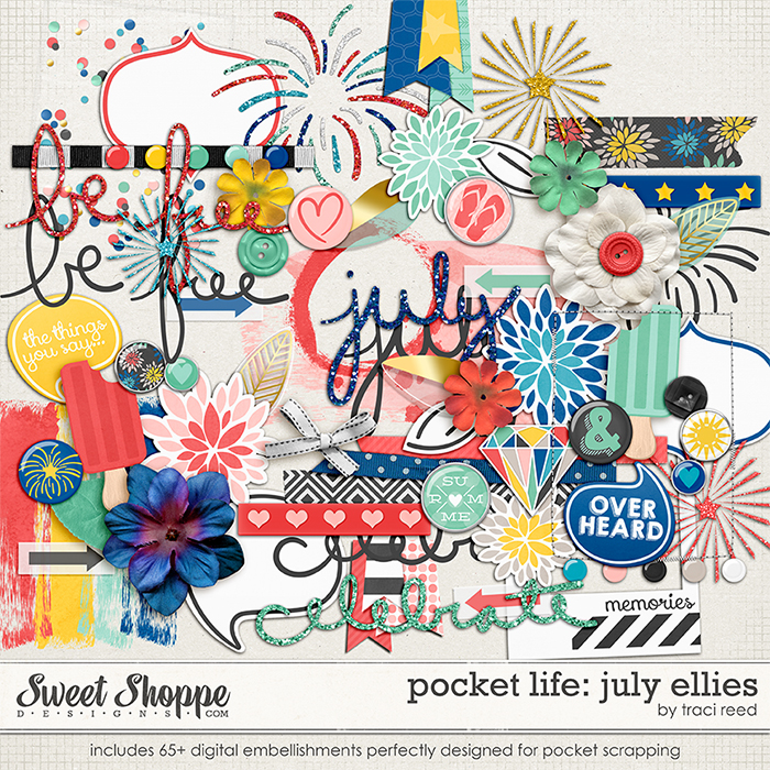 Pocket Life: July Digital Ellies by Traci Reed