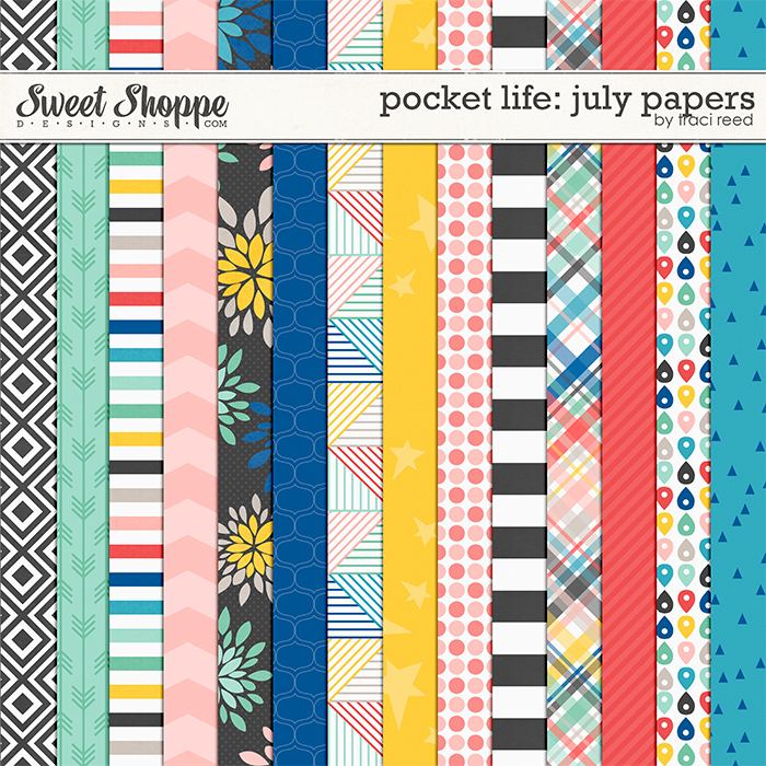 Pocket Life: July Papers by Traci Reed