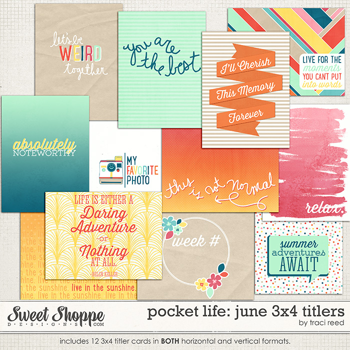 Pocket Life: June 3x4 Titlers by Traci Reed