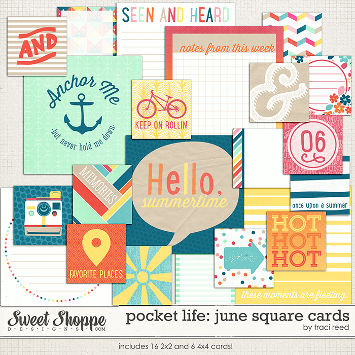 Pocket Life: June Square Cards by Traci Reed
