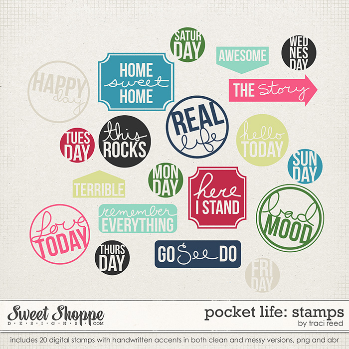 Pocket Life: March Stamps by Traci Reed
